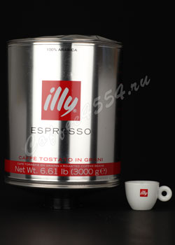 Кофе illy (Илли) в зернах 3 кг сильной обжарки